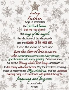 Christmas Prayer Dear God, Help Us Remember The Birth Of Jesus that we may share in the song of the angels - Quotes Christmas Prayer, Christmas Program, Christmas Poems, Meaning Of Christmas, Christmas Blessings, Christmas Messages, Christmas Greetings, Christmas Traditions, All Things Christmas