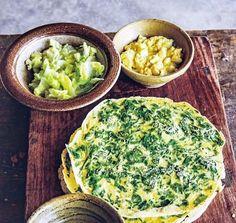 Grønne spinatpandekager