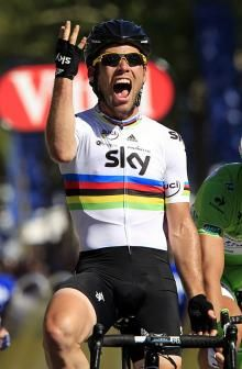 Cav 2012 - 4 yrs in a row TDF final stage Champs-Elysees winner!!