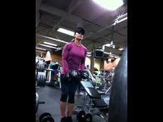 Nicole Wilkins shoulder workout. The video is lateral raises with drop sets. I did this workout today and the drop sets really help you burn out your delts.