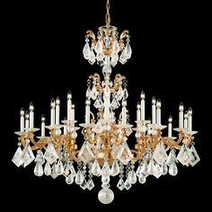 La Scala is a striking rococo design inspired by sixteenth-century chandeliers. Arms and scrolls are cast from SCHONBEK® family molds.