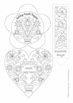Mothers Template Mom Heart 8 Martie Paper Crafts Hungary Nativity Manual