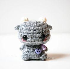 Mini Gray Monster - Kawaii Amigurumi Plush