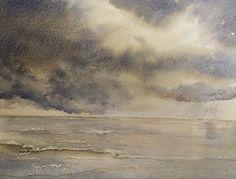 Original watercolor  Stormy weather