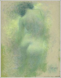 Lucien Lévy-Dhurmer (1865-1953), Femme de Dos - vers 1900