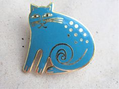 Signed on back laurel Burch mythical cat . 