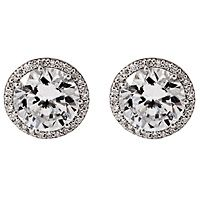 Diamond Halo Stud Earrings!! HAVE ALWAYS WANTED A PAIR!!! HINT HINT MR ADAMS:o) And NO CZ's EITHER!