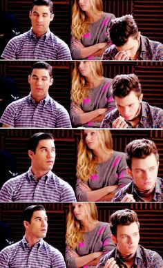 """""""Someone leaves there little baby hairs all over the sink and we all know it ain't Kurt."""" -Santana"""