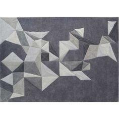 Tapis Pliages gris by Toulemonde Bochart