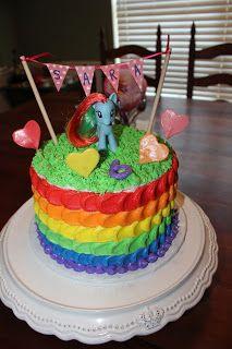 From http://cakesandcupcakes4u.blogspot.com/2012/09/rainbow-my-little-pony-cake.html