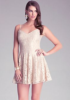 Tie Back Lace Dress from Bebe