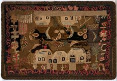 Buy online, view images and see past prices for Hooked Rug. Invaluable is the world's largest marketplace for art, antiques, and collectibles. Handmade Headbands, Handmade Crafts, Handmade Rugs, Vintage Hooks, Vintage Rugs, Rug Studio, Hand Hooked Rugs, Wool Embroidery, House Quilts