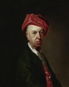 Porträt eines Herrn in Hausjacke by Christian Seybold