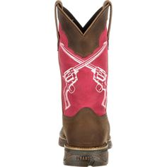 Ladies, this is one rebellious and feminine boot! Show your love for shooting, the Wild West or a rugged lifestyle with this comfortable, lightweight cowgirl boot. The Lady Rebel by Durango® Crossed G
