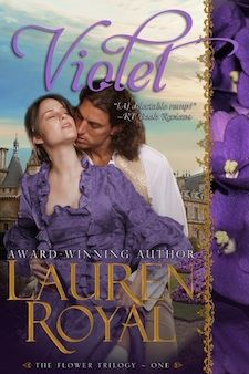 """Ford Chase's story -- concluding Lauren's Jewel Trilogy...and also Violet's story -- first in Lauren's Flower Trilogy! England, 1673. The Ashcroft family motto is """"Question Convention,"""" and eldest sister Violet agrees with the sentiment completely. For one thing, she's not planning to marry. Until, that is, a handsome and uncommonly intelligent viscount moves in next door..."""
