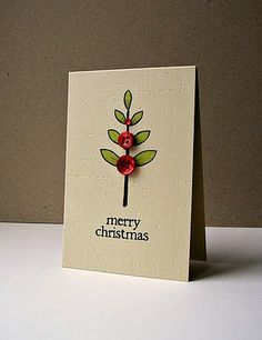 Baby Christmas tree card