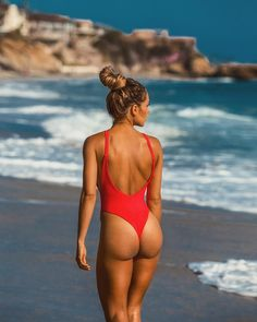 "1,666 Likes, 27 Comments - AYRA SWIM ® (@ayraswim) on Instagram: ""Beachbabe 🔥 // @ivycarnegie wearing The Hype one piece in red 📸: @genesisvb_"""