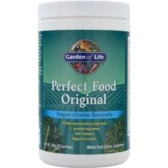 Perfect Food® Super Green Formula - Receive the nutritional benefits of daily multiple servings of fruits and vegetables through green food supplementation. Made with vegetable, sprout and organic cereal grass ingredients, one serving is equivalent to 140 grams of fresh grass juice to ensure your body receives the nutritional benefits of multiple servings of fruit and vegetables every day.* #ProHealth