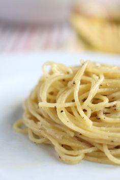 Cacio e pepe, one of our FAVORITE dishes in Rome!