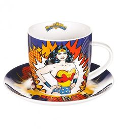 Boxed Retro Wonder Woman Cup And Saucer : WANT!