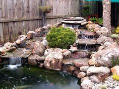 Small Pond Waterfall Ideas | ... Above) Shows A More Elaborate Waterfall (Very Nice I Might Add