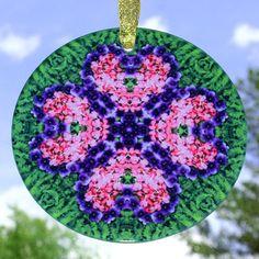 Bleeding Heart Glass Suncatcher Sacred Geometry by melbecreations, $28.00