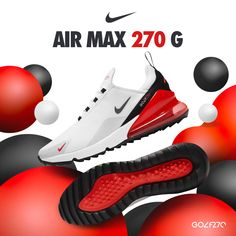 Same great style, new colour😍. It's everything you loved from before, NikeGolf Air Max 270G now available in White/Hot Red/Black/Cool Grey. Get your pair now at #eGolfMegastore!🔥 ______ #NikeGolf #Nike270G #NikeGolfClub #AirMax270G #footwear #nikekicks #golfshoes #nikeshoes #golfinOman #golflook #golfAlMouj #golfstagram #golfstyle #golfaddict #golfshopOman #golfMiddleEast #eGolf Nike Golf Clubs, Nike Shoes, Sneakers Nike, Nike Kicks, Golf Shop, Air Max 270, Golf Fashion, Red Black, Nike Air Max