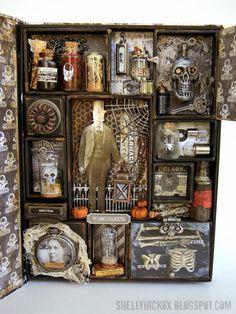 halloween shadow village - Google Search
