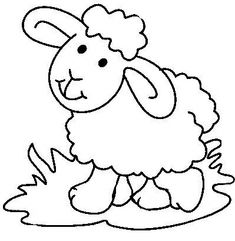 Baby Sheep Coloring Pages Cute Coloring Pages, Printable Coloring Pages, Preschool Crafts, Easter Crafts, Sheep Drawing, Fathers Day Coloring Page, Toilet Roll Craft, Sheep Art, Baby Sheep
