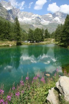 Blue Lake - Cervinia - Italy