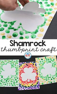 Looking for a fun shamrock craft for kids? Try this St Patrick's Day Decorations for Kids idea! They will love this simple art activity for March! #spring #stpatricksday