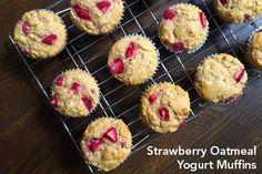 Strawberry Oatmeal Yogurt Muffins - yum!   via @thelemonbowl @castrawberries #spon #fall4strawberries http://bit.ly/1rtURRd