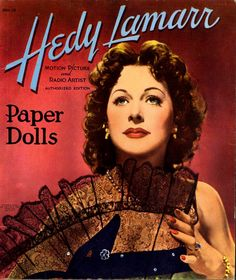 Buy 2 paper dolls and get 1, of equal or lesser value, free!   Vintage HEDY LAMARR paper dolls.  8 JPG files (300 dpi high resolution image files)