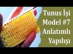 Tunus İşi Papatya Modeli ve Yapılışı , Canım Anne - YouTube Afghan Stitch, Tunisian Crochet, Crochet Hats, Knitting, Youtube, Mavis, Baby, Crochet Stitches, Baby Dolls