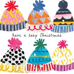 have a cozy Christmas - cute hat illustration design