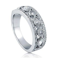 Engagement & Wedding Bridal & Wedding Party Jewelry Brilliant Exquisite Round Pave Set Cubic Zirconia Sterling Silver Ring Size 8