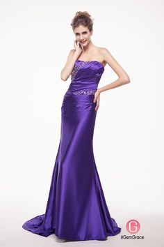 Sleek satin long formal party dress with train Plus Size Prom Dresses, Prom Dresses Online, Homecoming Dresses, Cute Dresses, Formal Dresses, White Bridesmaid Dresses, Perfect Prom Dress, Short Styles, Party Time