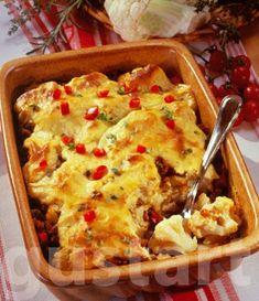 Lajos Mari konyhája - Karfiolmuszaka Hungarian Recipes, Hungarian Food, Quiche Muffins, Fusilli, Fruits And Vegetables, Macaroni And Cheese, Side Dishes, Salad, Ethnic Recipes