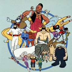 Hanna-Barbera Super Hero / Action cartoons from the Comics Und Cartoons, Old School Cartoons, Cartoon Crazy, Cartoon Tv, Classic Cartoon Characters, Classic Cartoons, Desenhos Hanna Barbera, Vintage Cartoons, Pinturas Disney