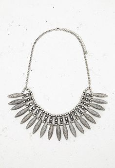 Almond-Shaped Statement Necklace | Forever 21 - 1000163264