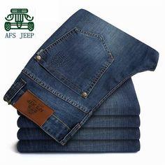 AFS JEEP High Quality Mans Back Pockets Cargo Denim Pants,40 42 44 Plus Size COTTON Motorcycle Denim Jeans,Brand Cotton Jean