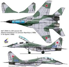 MiG MiG-29/MiG-33/MiG-35 Fulcrum | USSR/Russia | MiG-29UB | 304 (ex 53)