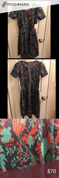 BNWT LuLaRoe Amelia BNWT LuLaRoe Amelia, size small, new and never worn. Selling because I bought it over a year ago and still haven't worn it. Price is not firm, will consider offers. LuLaRoe Dresses