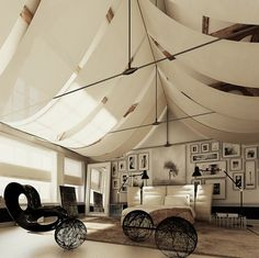 www.eyefordesignlfd.blogspot.com  Tented Ceilings......Add Some Drama To Your Interiors