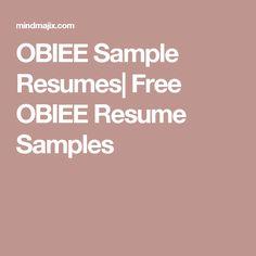 Business Intelligence, 100 Free, Sample Resume, Good Things
