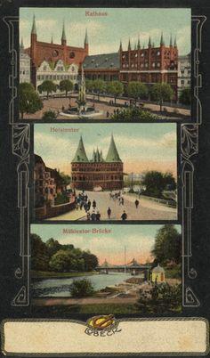 Postkarte Lübeck, um 1900