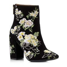 ATHENA Floral Embroidered Boot (31.520 HUF) ❤ liked on Polyvore featuring shoes, boots, miss selfridge and miss selfridge shoes