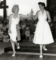 Marilyn Monroe and Jane Russell, a reminder to dress for my shape, coloring, and…