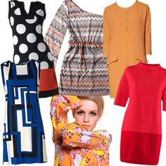 Idén télen újra középpontba kerültek a '60-as, '70-es évek színes ruhái Twiggy stílusában