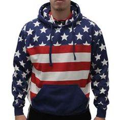 Mens American Flag Hoodie Sweater
